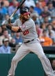 Apr 29, 2014; Houston, TX, USA; Washington Nationals designated hitter Jayson Werth (28) bats during the first inning against the Houston Astros at Minute Maid Park. Mandatory Credit: Troy Taormina-USA TODAY Sports