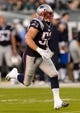 Aug 9, 2013; Philadelphia, PA, USA; New England Patriots linebacker Dane Fletcher (52) during the first quarter against the Philadelphia Eagles at Lincoln Financial Field. The Patriots defeated the Eagles 31-22. Mandatory Credit: Howard Smith-USA TODAY Sports