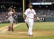 May 2, 2014; Philadelphia, PA, USA; Philadelphia Phillies right fielder Marlon Byrd (3) reacts after striking out in the bottom of the eighth inning against the Washington Nationals at Citizens Bank Park. The Nationals defeated the Phillies, 5-3. Mandatory Credit: Eric Hartline-USA TODAY Sports