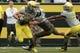 May 3, 2014; Eugene, OR, USA; Oregon Ducks wide receiver Jalen Brown (15) runs the ball at Autzen Stadium. Mandatory Credit: Scott Olmos-USA TODAY Sports