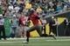 May 3, 2014; Eugene, OR, USA; Oregon Ducks quarterback Marcus Mariota (8) runs the ball in the first half at Autzen Stadium. Mandatory Credit: Scott Olmos-USA TODAY Sports