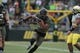 May 3, 2014; Eugene, OR, USA; Ortegon Ducks defensive end Tony Washington (91) runs the ball at Autzen Stadium. Mandatory Credit: Scott Olmos-USA TODAY Sports