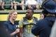 May 3, 2014; Eugene, OR, USA; Oregon Ducks wide receiver Bralon Addison (11) is interviewed at Autzen Stadium. Mandatory Credit: Scott Olmos-USA TODAY Sports