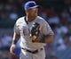 May 4, 2014; Anaheim, CA, USA; Texas Rangers third baseman Adrian Beltre (29) during the Rangers 14-3 win over the Los Angeles Angels at Angel Stadium of Anaheim. Mandatory Credit: Robert Hanashiro-USA TODAY Sports