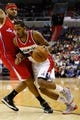Dec 14, 2013; Washington, DC, USA; Washington Wizards small forward Trevor Ariza (1) dribbles the ball against the Los Angeles Clippers at Verizon Center. Mandatory Credit: Geoff Burke-USA TODAY Sports