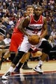 Dec 14, 2013; Washington, DC, USA; Washington Wizards power forward Trevor Booker (35) dribbles the ball against the Los Angeles Clippers at Verizon Center. Mandatory Credit: Geoff Burke-USA TODAY Sports