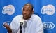 Feb 12, 2014; Los Angeles, CA, USA; Los Angeles Clippers coach Doc Rivers at press conference before the game against the Portland Trail Blazers at Staples Center. Mandatory Credit: Kirby Lee-USA TODAY Sports
