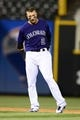 May 5, 2014; Denver, CO, USA; Colorado Rockies shortstop Troy Tulowitzki (2) during the top of ninth inning against the Texas Rangers at Coors Field. The Rockies defeated the Rangers 8-2. Mandatory Credit: Ron Chenoy-USA TODAY Sports