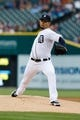 Apr 21, 2014; Detroit, MI, USA; Detroit Tigers starting pitcher Anibal Sanchez (19) pitches in the first inning against the Chicago White Sox at Comerica Park. Mandatory Credit: Rick Osentoski-USA TODAY Sports