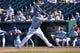 May 4, 2014; Kansas City, MO, USA; Kansas City Royals first basemen Eric Hosmer (35) at bat against the Detroit Tigers during the ninth inning at Kauffman Stadium. Mandatory Credit: Peter G. Aiken-USA TODAY Sports