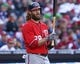 May 4, 2014; Philadelphia, PA, USA; Washington Nationals right fielder Jayson Werth (28) waits to bat in a game against the Philadelphia Phillies at Citizens Bank Park. The Phillies defeated the Nationals 1-0.  Mandatory Credit: Bill Streicher-USA TODAY Sports