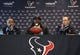 May 9, 2014; Houston, TX, USA;  Houston Texans first-round draft pick Jadeveon Clowney speaks during a press conference at Reliant Stadium. Mandatory Credit: Troy Taormina-USA TODAY Sports