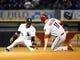 May 9, 2014; Chicago, IL, USA; Arizona Diamondbacks center fielder A.J. Pollock (11) steals second base against Chicago White Sox shortstop Alexei Ramirez (10) during the sixth inning at U.S Cellular Field. Mandatory Credit: Mike DiNovo-USA TODAY Sports