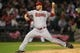 May 10, 2014; Chicago, IL, USA; Arizona Diamondbacks starting pitcher Wade Miley (36) delivers a pitch during the seventh inning against the Chicago White Sox at U.S Cellular Field. Mandatory Credit: Dennis Wierzbicki-USA TODAY Sports