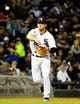 May 9, 2014; Chicago, IL, USA; Chicago White Sox third baseman Conor Gillaspie (12) during the sixth inning at U.S Cellular Field. Mandatory Credit: Mike DiNovo-USA TODAY Sports
