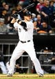 May 9, 2014; Chicago, IL, USA; Chicago White Sox catcher Tyler Flowers (21) during the fourth inning at U.S Cellular Field. Mandatory Credit: Mike DiNovo-USA TODAY Sports