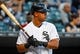 May 9, 2014; Chicago, IL, USA; Chicago White Sox first baseman Jose Abreu (79) during the first inning at U.S Cellular Field. Mandatory Credit: Mike DiNovo-USA TODAY Sports