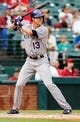 May 8, 2014; Arlington, TX, USA; Colorado Rockies center fielder Drew Stubbs (13) bats during the game against the Texas Rangers at Globe Life Park in Arlington. Texas won 5-0. Mandatory Credit: Kevin Jairaj-USA TODAY Sports