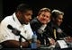 May 13, 2014; St. Louis, MO, USA; St. Louis Rams general manager Les Snead looks on as seventh round pick defensive end Michael Sam talks with the media during a press conference at Rams Park. Mandatory Credit: Jeff Curry-USA TODAY Sports