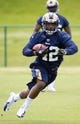 May 16, 2014; St. Louis, MO, USA; St. Louis Rams running back Trey Watts (42) during rookie minicamp at Rams Park. Mandatory Credit: Scott Rovak-USA TODAY Sports