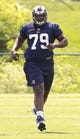May 16, 2014; St. Louis, MO, USA; St. Louis Rams offensive lineman Greg Robinson (79) during rookie minicamp at Rams Park. Mandatory Credit: Scott Rovak-USA TODAY Sports