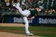 May 10, 2014; Oakland, CA, USA; Oakland Athletics starting pitcher Sonny Gray (54) delivers a pitch against the Washington Nationals during the first inning at O.co Coliseum. The Athletics defeated the Nationals 4-3 in 10 innings. Mandatory Credit: Kyle Terada-USA TODAY Sports