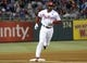 May 17, 2014; Philadelphia, PA, USA; Philadelphia Phillies left fielder Domonic Brown (9) runs the bases after hitting a 2-run home run in the fourth inning against the Cincinnati Reds at Citizens Bank Park. Mandatory Credit: Eric Hartline-USA TODAY Sports