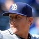Apr 9, 2014; Kansas City, MO, USA; Tampa Rays pitcher Jeff Beliveau (38) delivers a pitch against the Kansas City Royals during the seventh inning at Kauffman Stadium. Kansas City won 7-3. Mandatory Credit: Peter G. Aiken-USA TODAY Sports