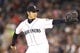 May 25, 2014; Seattle, WA, USA; Seattle Mariners pitcher Hisashi Iwakuma (18) delivers to the plate against the Houston Astros during the first inning at Safeco Field. Mandatory Credit: Joe Nicholson-USA TODAY Sports