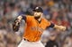May 25, 2014; Seattle, WA, USA; Houston Astros pitcher Dallas Keuchel (60) delivers to the plate against the Seattle Mariners during the sixth inning at Safeco Field. Mandatory Credit: Joe Nicholson-USA TODAY Sports