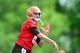May 21, 2014; Berea, OH, USA; Cleveland Browns quarterback Brian Hoyer (6) during organized team activities at Cleveland Browns practice facility. Mandatory Credit: Andrew Weber-USA TODAY Sports