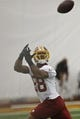 May 29, 2014; Ashburn, VA, USA; Washington Redskins wide receiver Pierre Garcon (88) catches the ball during organized team activities at Redskins Park. Mandatory Credit: Geoff Burke-USA TODAY Sports