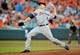 May 13, 2014; Baltimore, MD, USA; Detroit Tigers pitcher Drew Smyly (33) pitches in the first inning against the Baltimore Orioles at Oriole Park at Camden Yards. The Tigers defeated the Orioles 4-1. Mandatory Credit: Joy R. Absalon-USA TODAY Sports
