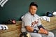 May 12, 2014; Baltimore, MD, USA; Detroit Tigers first baseman Miguel Cabrera (24) prior to a game against the Baltimore Orioles at Oriole Park at Camden Yards. The Tigers defeated the Orioles 4-1. Mandatory Credit: Joy R. Absalon-USA TODAY Sports