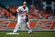May 13, 2014; Baltimore, MD, USA; Baltimore Orioles third baseman Manny Machado (13) during a game against the Detroit Tigers at Oriole Park at Camden Yards. The Tigers defeated the Orioles 4-1. Mandatory Credit: Joy R. Absalon-USA TODAY Sports