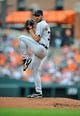 May 14, 2014; Baltimore, MD, USA; Detroit Tigers starting pitcher Justin Verlander (35) pitches in the second inning against the Baltimore Orioles at Oriole Park at Camden Yards. The Tigers defeated the Orioles 7-5. Mandatory Credit: Joy R. Absalon-USA TODAY Sports