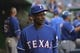 May 30, 2014; Washington, DC, USA; Texas Rangers manager Ron Washington (38) walks through the dugout during the first inning against the Washington Nationals at Nationals Park. Mandatory Credit: Tommy Gilligan-USA TODAY Sports