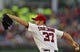 May 30, 2014; Washington, DC, USA; Washington Nationals starting pitcher Stephen Strasburg (37) pitches during the third inning against the Texas Rangers  at Nationals Park. Mandatory Credit: Tommy Gilligan-USA TODAY Sports