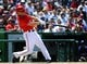 May 31, 2014; Washington, DC, USA; Washington Nationals left fielder Scott Hairston (7) hits a two run home run against the Texas Rangers during the sixth inning at Nationals Park. Mandatory Credit: Brad Mills-USA TODAY Sports