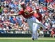 May 31, 2014; Washington, DC, USA; Washington Nationals third baseman Anthony Rendon (6) throws to first against the Texas Rangers during the seventh inning at Nationals Park. Mandatory Credit: Brad Mills-USA TODAY Sports