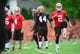 May 28, 2014; Berea, OH, USA; Cleveland Browns quarterback Johnny Manziel (2) during organized team activities at Cleveland Browns training facility. Mandatory Credit: Andrew Weber-USA TODAY Sports