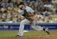 Jun 3, 2014; Los Angeles, CA, USA; Chicago White Sox relief pitcher Zach Putnam (57) delivers in the eighth inning of the game against the Los Angeles Dodgers at Dodger Stadium. Mandatory Credit: Jayne Kamin-Oncea-USA TODAY Sports