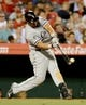 Jun 6, 2014; Anaheim, CA, USA; Chicago White Sox first baseman Jose Abreu (79) at bat during the game against the Los Angeles Angels at Angel Stadium of Anaheim. Mandatory Credit: Jayne Kamin-Oncea-USA TODAY Sports