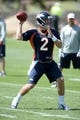 Jun 10, 2014; Denver, CO, USA; Denver Broncos quarterback Zac Dysert (2) prepares to pass during mini camp drills at the Broncos practice facility. Mandatory Credit: Ron Chenoy-USA TODAY Sports