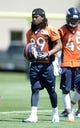 Jun 10, 2014; Denver, CO, USA; Denver Broncos cornerback Bradley Roby (29) during mini camp drills at the Broncos practice facility. Mandatory Credit: Ron Chenoy-USA TODAY Sports