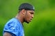 Jun 10, 2014; Detroit, MI, USA; Detroit Lions tight end Eric Ebron (85) during mini camp at Detroit Lions training facility. Mandatory Credit: Andrew Weber-USA TODAY Sports