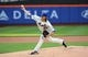 Jun 11, 2014; New York, NY, USA;  New York Mets starting pitcher Jacob deGrom (48) pitches during the first inning against the Milwaukee Brewers at Citi Field. Mandatory Credit: Anthony Gruppuso-USA TODAY Sports