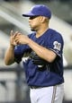 Jun 11, 2014; New York, NY, USA; Milwaukee Brewers relief pitcher Francisco Rodriguez (57) takes the mound during the ninth inning against the New York Mets at Citi Field. Milwaukee Brewers won 3-1.  Mandatory Credit: Anthony Gruppuso-USA TODAY Sports