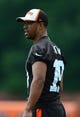 Jun 12, 2014; Berea, OH, USA; Cleveland Browns wide receiver Miles Austin during minicamp at Browns training facility. Mandatory Credit: Andrew Weber-USA TODAY Sports
