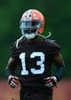 Jun 12, 2014; Berea, OH, USA; Cleveland Browns during minicamp at Browns training facility. Mandatory Credit: Andrew Weber-USA TODAY Sports